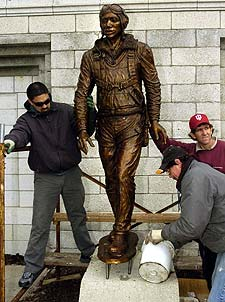 Dedication of Tuskegee Airman Statue at Aquatorium